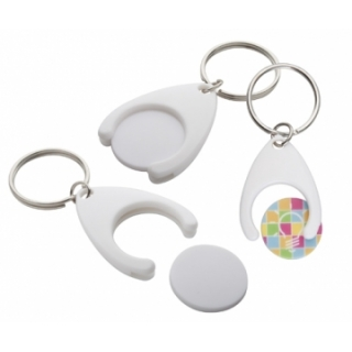 800375  Keyring with coin for super market